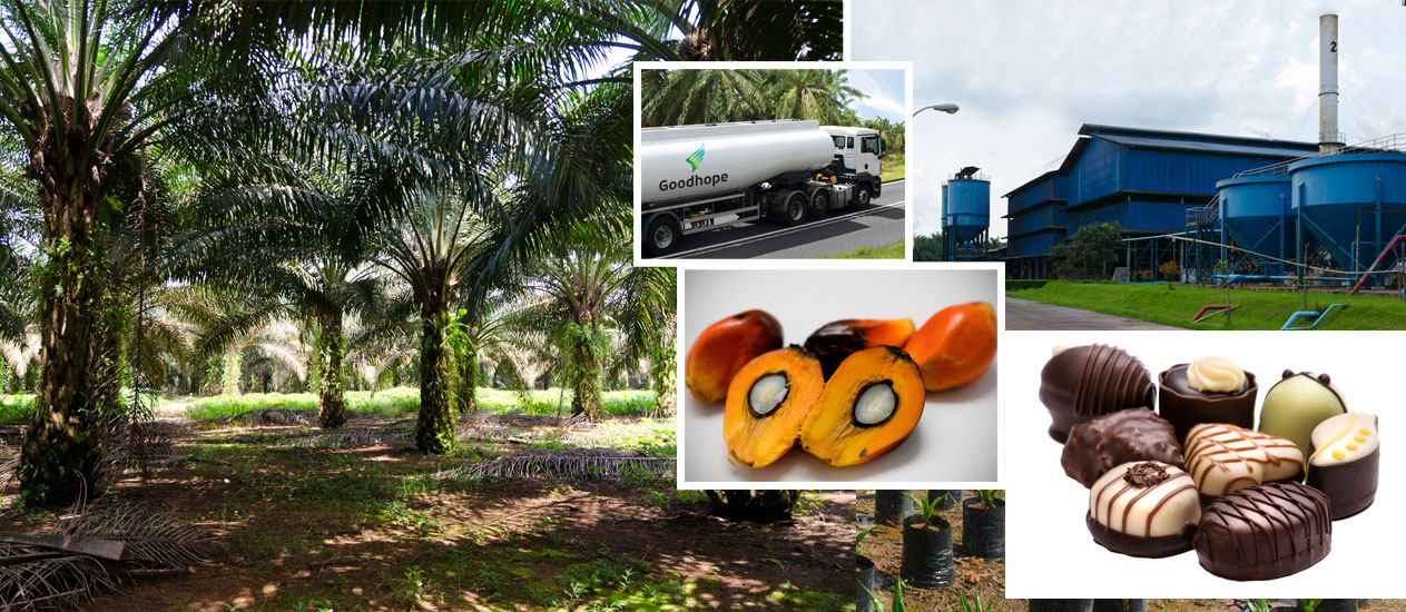 Present across the palm oil